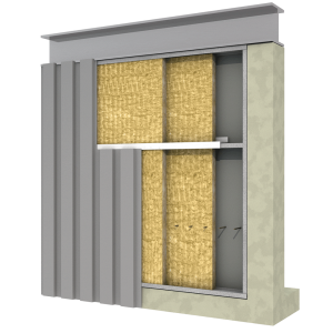 Double layer roock wool metal building insulation schematic