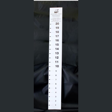 Paper Attic Ruler for Blown Insulation