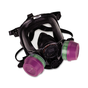 North 7600 full mask respirator with magenta cartridges