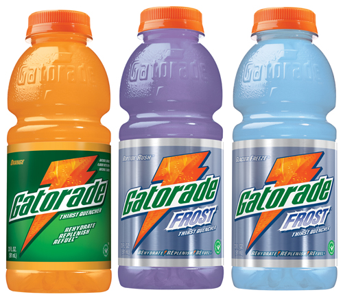 Bottles of Gatorade for hydration