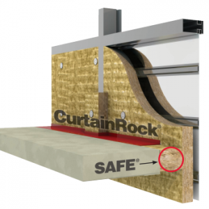 Roxul SAFE and CurtainRock fire stopping for curtain walls