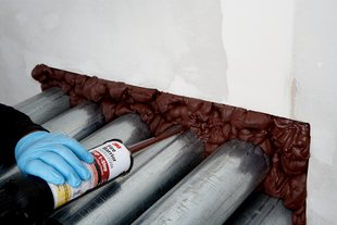 3m fire barrier rated foam fip 1 step general insulation for Mineral wool firestop