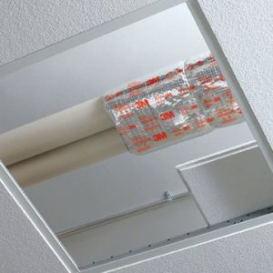 3M Fire Barrier Plenum Wrap 5A+ ceiling installation