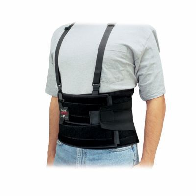 Back support belt with velcro closures