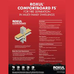 Roxul comfortboardfs fire stopping insulation board for Mineral wool insulation health and safety