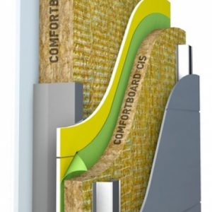 Comfortboard with Comfortbatt wall insulation system