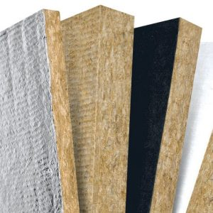 Roxul Rockboard shown in multiple densities