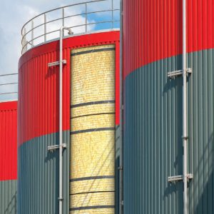 Roxul 500 mineral wool insulation baord lining storage tank
