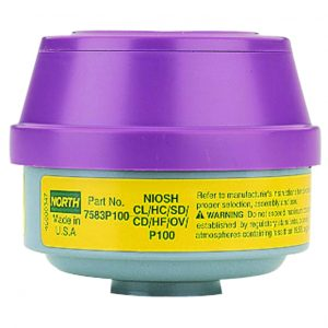 North 7583P100 organic vapor acid gas p100 particulate filter cartridge