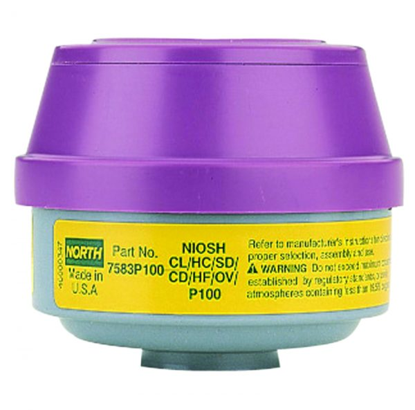 North 7583P100 organic vapor acid gas p100 particulate filter cartridge