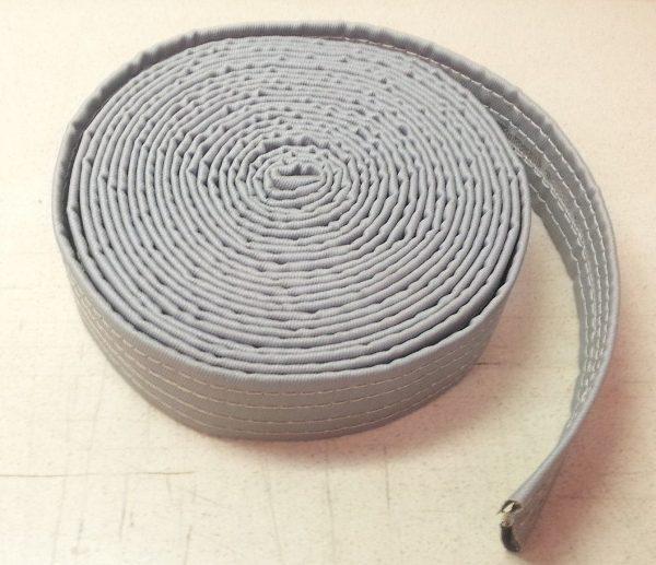 Stitched fabric marine flange spray shield