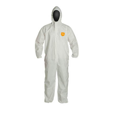 NexGen spun-bonded polypropylene protective suit.