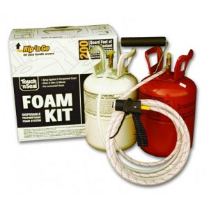 Touch 'n Seal Foam Kit 200 showing tanks and hoses
