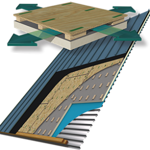 Hunter Cool Vent diagram - vented nailbase roofing panel over polyiso insulation