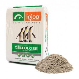 Igloo Cellulose Insulation package and fibers