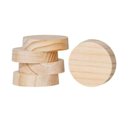 Wood plugs for blown insulation