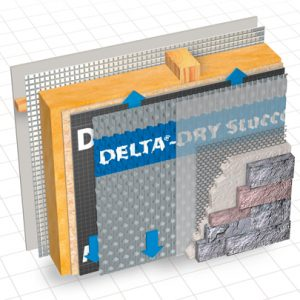 Delta-Dry Ventilated Rainscreen Behind Masonry