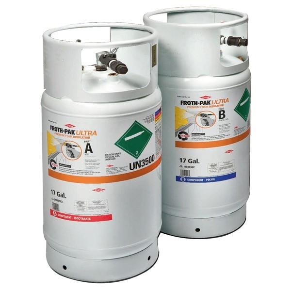 Dow Froth Pak Ultra polyurethane foam tanks - Low Density Foam