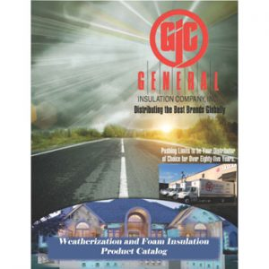 Weatherization & Foam Insulation Product Catalog