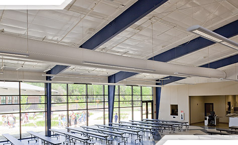 Simple Saver Metal Building Insulation school cafeteria