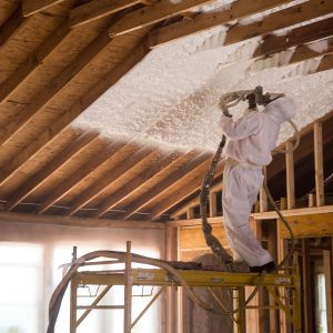 Spray Foam Application - Ceiling Joists