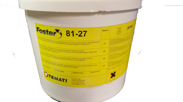 Foster 81-27 incombustible fibrous adhesive 5 gal pail