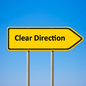 clear direction sign