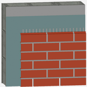 Newbrick Cladding Veneer Over Solid Substrate - diagram