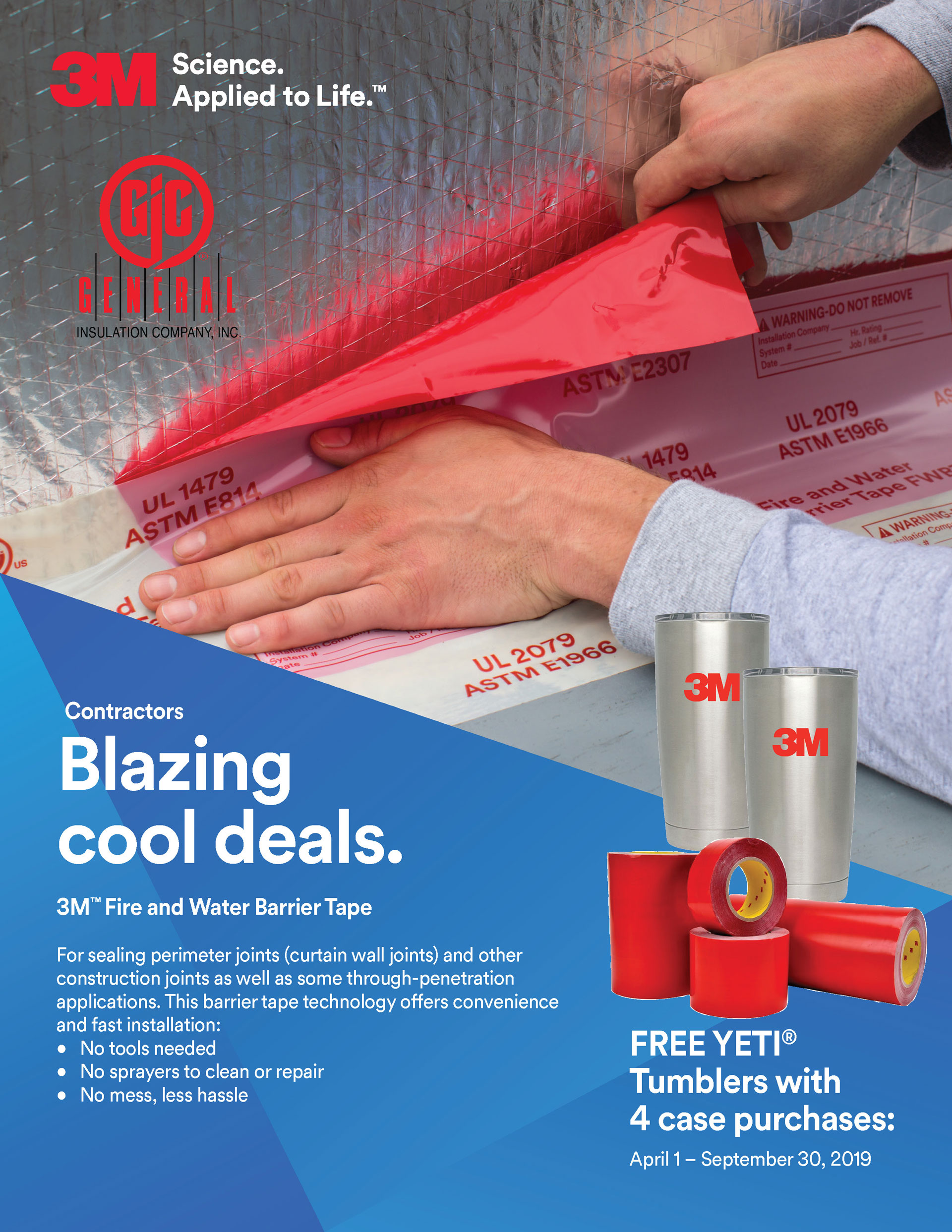 BLAZING COOL DEALS - 3M FIRE AND WATER BARRIER TAPE