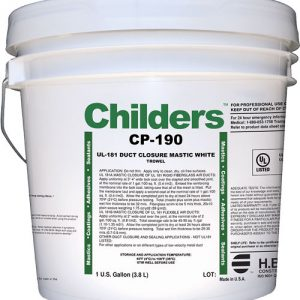 Childers CP-190 HVAC Construction Duct Sealant Closure Mastic