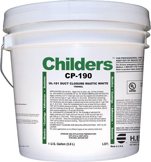 Childers CP-190 HVAC Construction Duct Sealant Closure Mastic