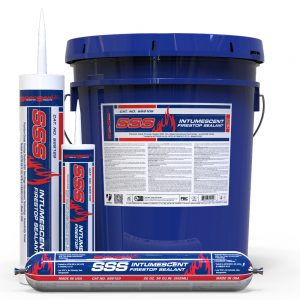 STI SpecSeal SSS Intumescent Firestop Sealant in bucket, tube and sausage product types