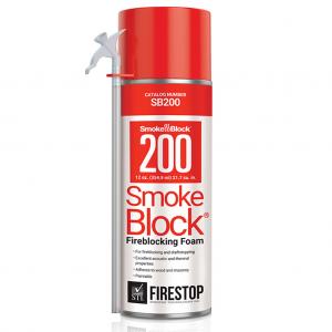 STI SmokeBlock 200 Firestop Foam Wood Frame