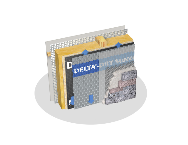 General Insulation Delta-Dry Stucco and Stone Ventilated Rainscreen