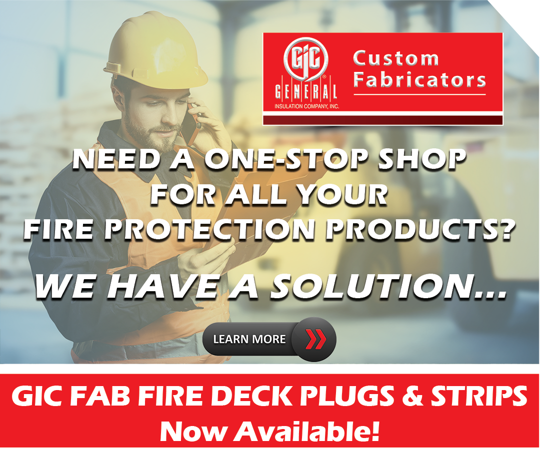 General Insulation Fabrication Fire Protection Deck Plugs and Strips